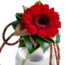 single gerbera daisy vase