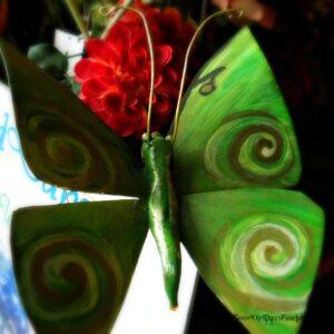 Handmade luna moth