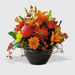 autumn flower jardineire