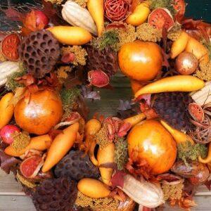 Williamsburg gourd wreath