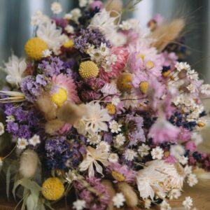 dried flower posey