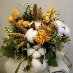 dried flower bouquet cotton