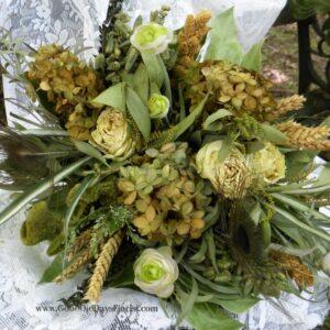dried flower bouquet green