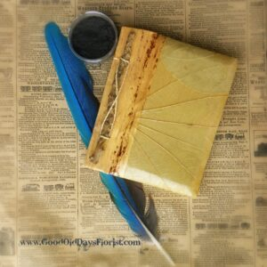 leaf wrapped journal book