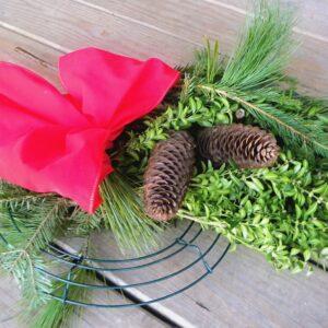 evergreen wreath kit