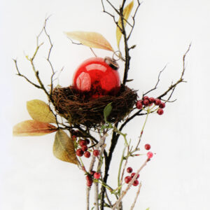 Vintage ornament nest